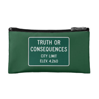 Truth Or Consequences, Road Marker, New Mexico, US Cosmetic Bag