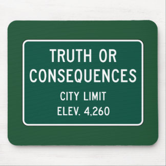 Truth Or Consequences, Road Marker, New Mexico, US Mouse Pad