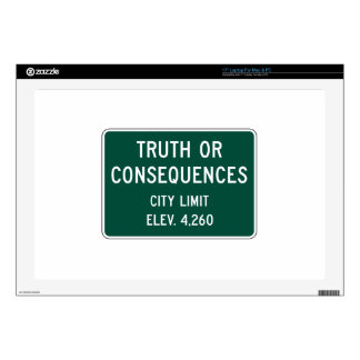 Truth Or Consequences, Road Marker, New Mexico, US Skin For Laptop