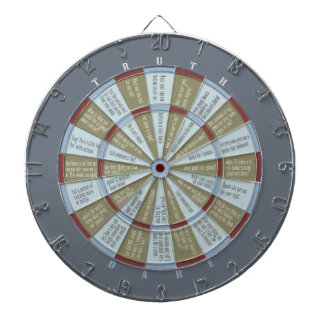 Truth or Dare Muted Green Gray (no kissing) Dart Board