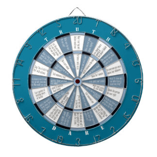 Truth or Dare (no kissing) Blue Dartboard With Darts