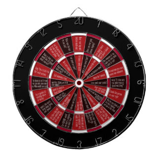 Truth or Dare (no kissing) Red and Black Dartboard With Darts