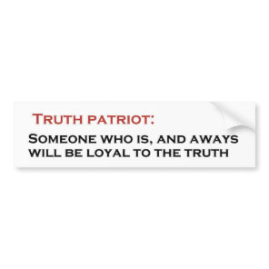 Truth Patriot Bumper Sticker