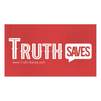 Truth Saves Cards Business Card