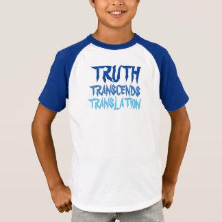 TRUTH TRANSCENDS BLUE HALF SLEEVE T-Shirt