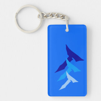 truth transcends blue keychain