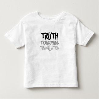 TRUTH TRANSCENDS TODDLER BLACK AND WHITE TODDLER T-SHIRT