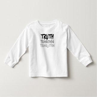 TRUTH TRANSCENDS TODDLER LONG SLEEVE WHITE TODDLER T-SHIRT