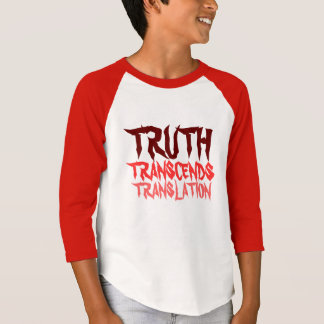TRUTH TRANSCENDS YOUTH RED RAGLAN T-Shirt