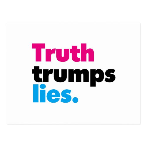 Truth trumps lies Postcard