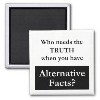 Truth vs. Alternative Facts White Magnet