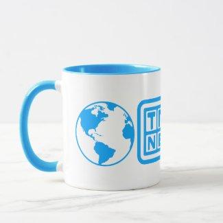 Truther Network Coffee Mug Lt. Blue Logo