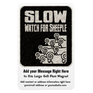 Truther or Prepper Movement Sheeple Magnet