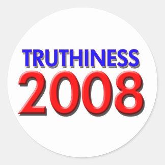 TRUTHINESS 2008 CLASSIC ROUND STICKER