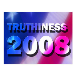 TRUTHINESS 2008 POST CARD