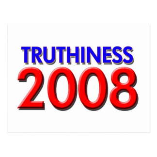 TRUTHINESS 2008 POSTCARD