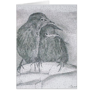 truvey's starlings greeting card