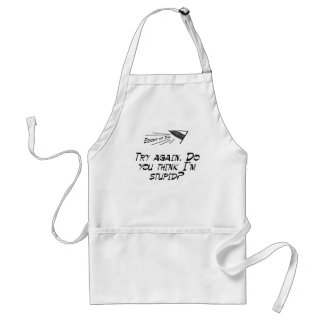 Try again! adult apron