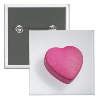 Try again heart candy pinback button
