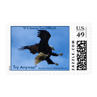 """""""TRY ANYWAY"""" EAGLE Series Stamp"""
