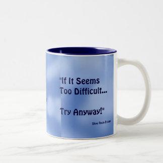 """TRY ANYWAY"" EAGLE Series Two-Tone Coffee Mug"