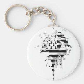 Try Brittany Breizh Basic Round Button Keychain
