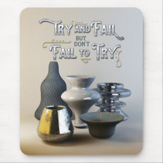 Try & Fail But Don't Fail to Try Stylish Pottery Mouse Pad