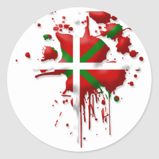 try flag Euskadi Basque Classic Round Sticker