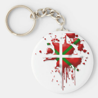 try flag Euskadi Basque Keychain