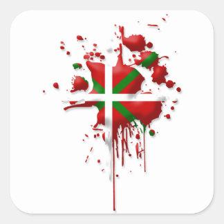 try flag Euskadi Basque Square Sticker