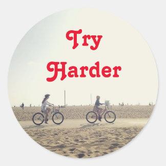 Try Hader Classic Round Sticker