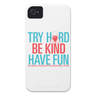 TRY HARD. BE KIND. HAVE FUN. iPhone 4 Case-Mate CASES