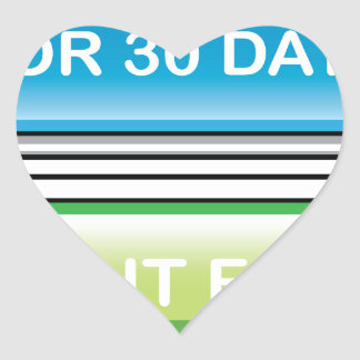 Try it Free for 30 Days button Heart Sticker
