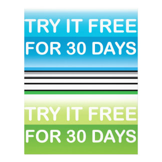 Try it Free for 30 Days button Letterhead