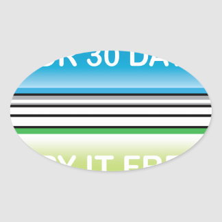 Try it Free for 30 Days button Oval Sticker