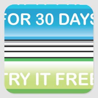 Try it Free for 30 Days button Square Sticker