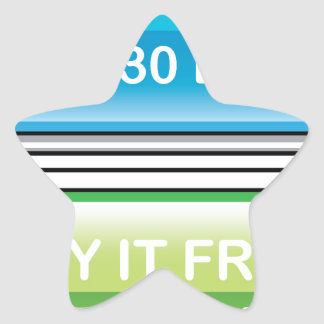Try it Free for 30 Days button Star Sticker