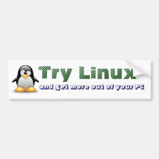 Try Linux Bumper Sticker
