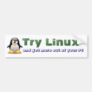 Try Linux Car Bumper Sticker