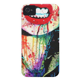 Try Me - Pop Art Rainbow Horror Portrait iPhone 4 Cover
