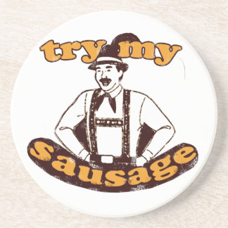 Try my sausage! coaster