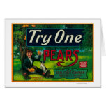Try One Pear Crate Label