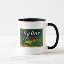 Try One Pear Crate Label Mug