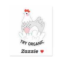 Try Organic Chicken Custom Shape Sticker