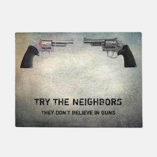 TRY THE NEIGHBORS DOORMAT