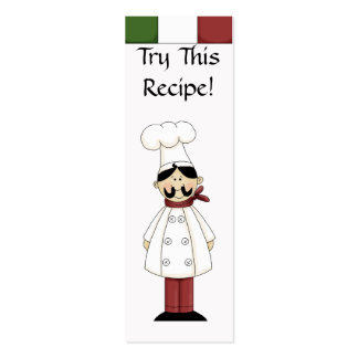 Try This Recipe- Small Bookmarks Business Cards