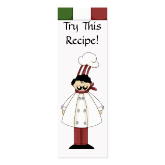 Try This Recipe- Small Bookmarks Business Card Templates