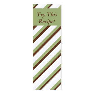 Try This Recipe- Small Bookmarks Business Card