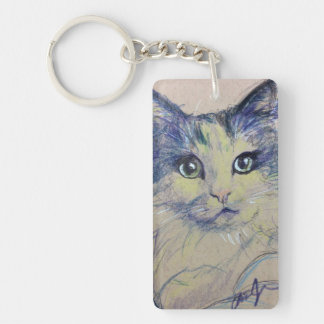 Try to Say No to this Face - Pop Cat Series 01 Double-Sided Rectangular Acrylic Keychain