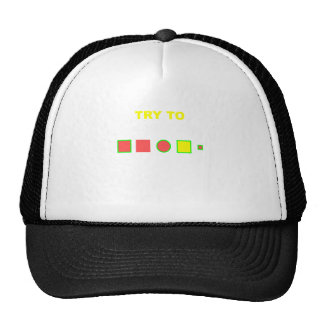 Try to solve this: trucker hat